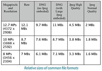 Common File Formats Table