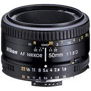 Nikon 50mm f-1.8 lens