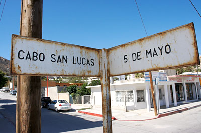 Cabo Street Sign