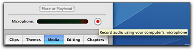 iMovie Voice Record