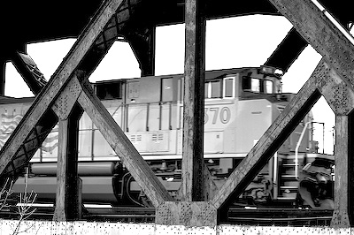Black & White Train